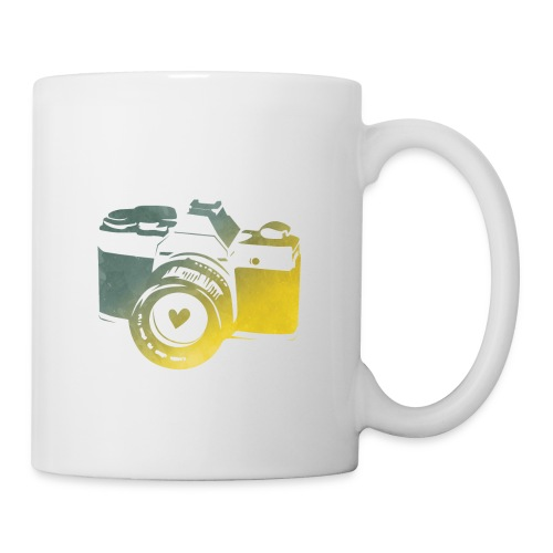 Green Bay camera with heart - Coffee/Tea Mug