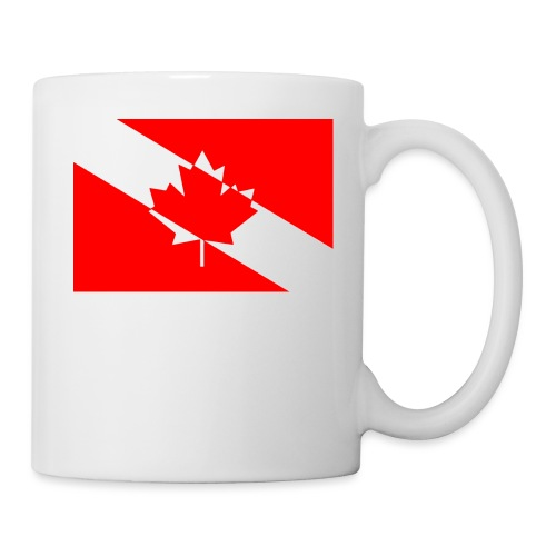 Canadian Diver Flag in Red & White - Coffee/Tea Mug