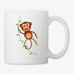 Funny Monkey Swinging On A Vine Merchandise - Coffee/Tea Mug