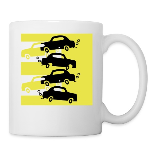 cars in the city - Coffee/Tea Mug