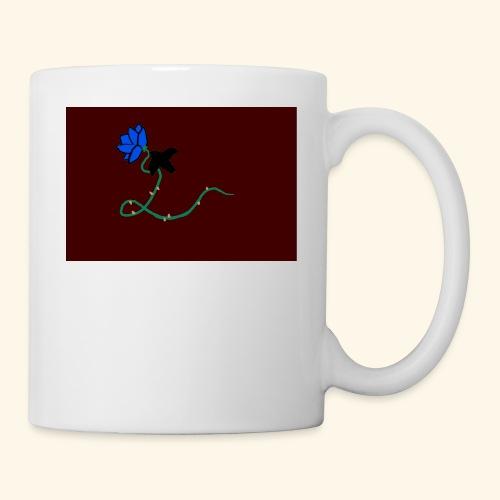 dove with blue rose logo - Coffee/Tea Mug