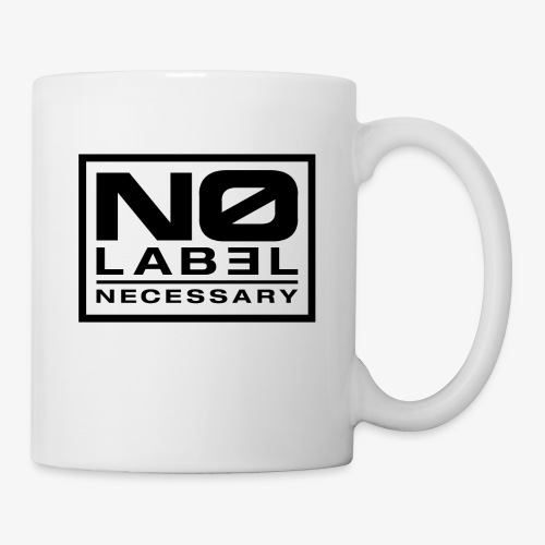 No Label Necessary Logo Black - Coffee/Tea Mug