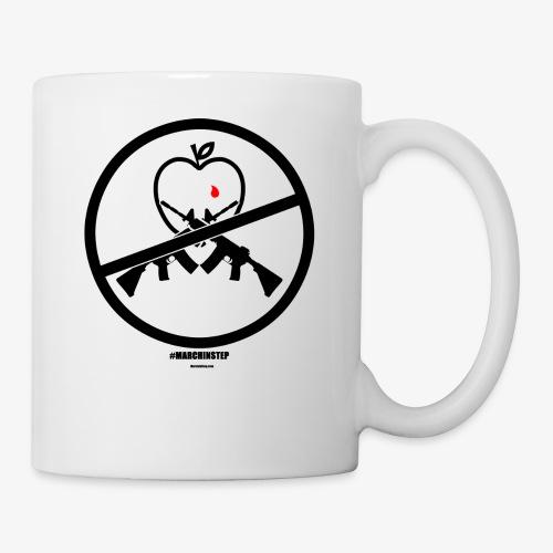 March In Step Black Floating Logo - Coffee/Tea Mug