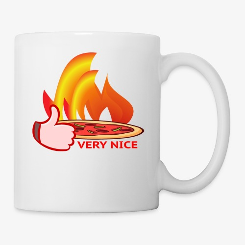 Pizza Wood-Fired Thumbs Up Very Nice Pizza - Coffee/Tea Mug