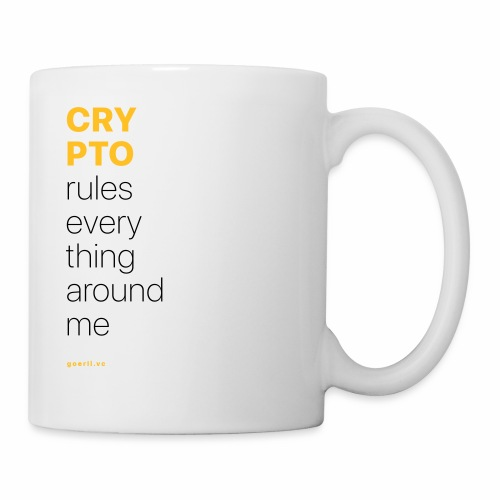 Crypto rules everything around me. - Coffee/Tea Mug