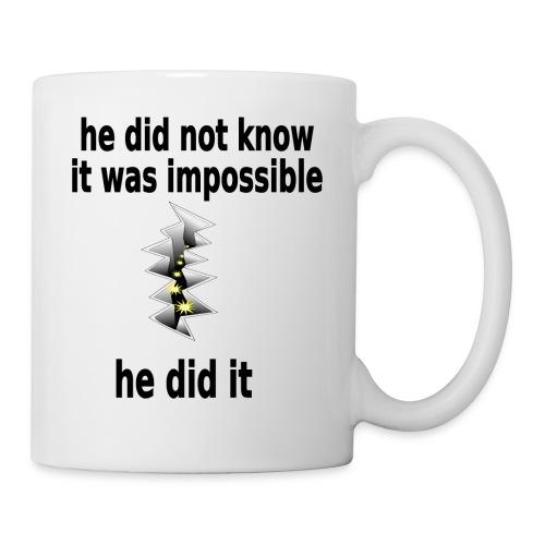 t shirt impossible and makes man rip breach FC - Coffee/Tea Mug