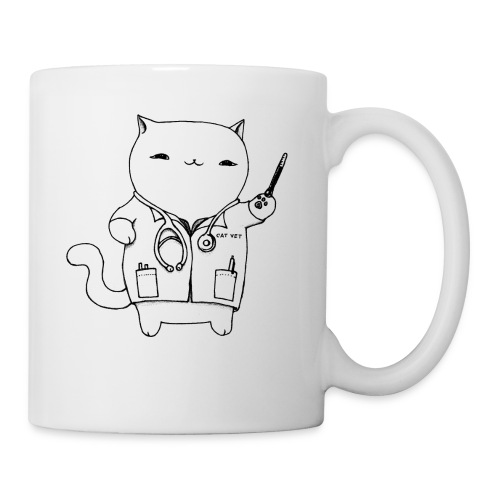 Cat Vet by Cassie Kitty Cassandra Graus (Black) - Coffee/Tea Mug