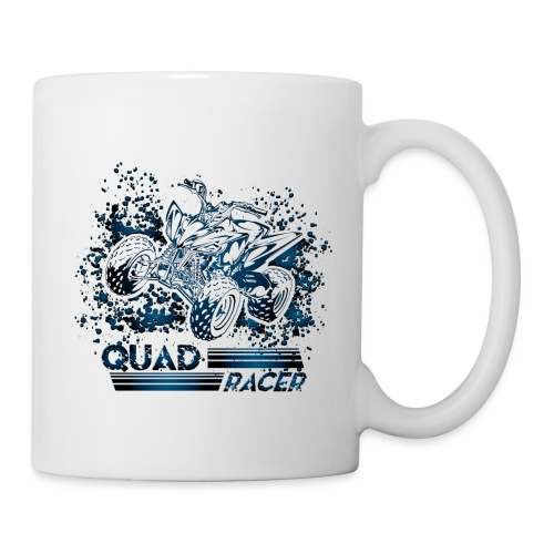 Blue Quad Racer Grunge - Coffee/Tea Mug