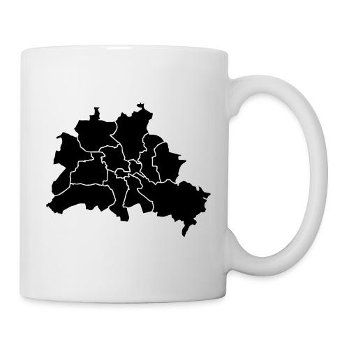 Berlin map, districts - Coffee/Tea Mug