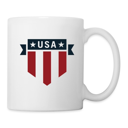 USA Pride Red White and Blue Patriotic Shield - Coffee/Tea Mug