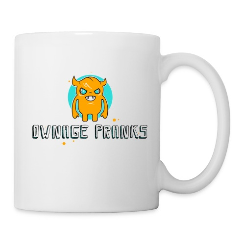 ownagepranks logo orange - Coffee/Tea Mug