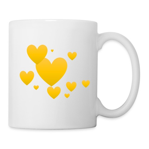 Yellow hearts - Coffee/Tea Mug