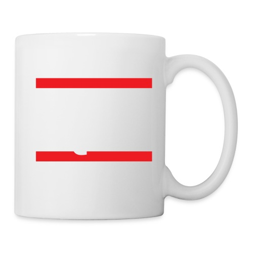 Run Squat White on Dark by Epic Greetings - Coffee/Tea Mug