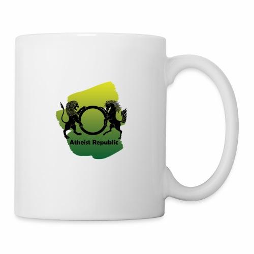 Atheist Republic Logo - Yellow & Green Paint - Coffee/Tea Mug