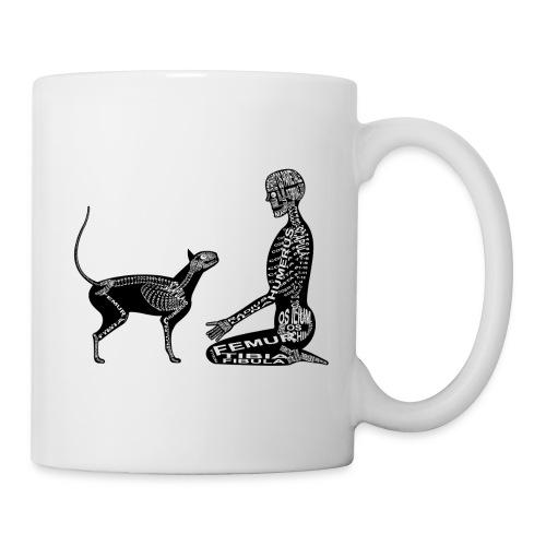 Skeleton Human and Cat - Coffee/Tea Mug
