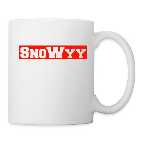 Red/White SnoWyy - Supreme Like Style - Coffee/Tea Mug