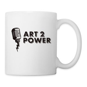 ART 2 POWER - black logo - Coffee/Tea Mug