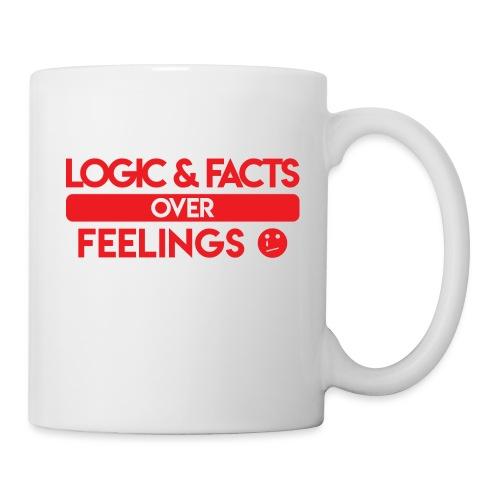 Logic & Facts Over Feelings Red - Coffee/Tea Mug