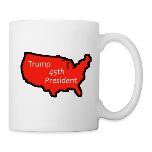 Trump 45th President (Bold Red USA) - Coffee/Tea Mug