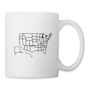 Straight Map - Coffee/Tea Mug