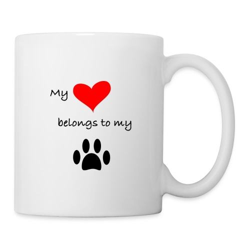 Dog Lovers shirt - My Heart Belongs to my Dog - Coffee/Tea Mug