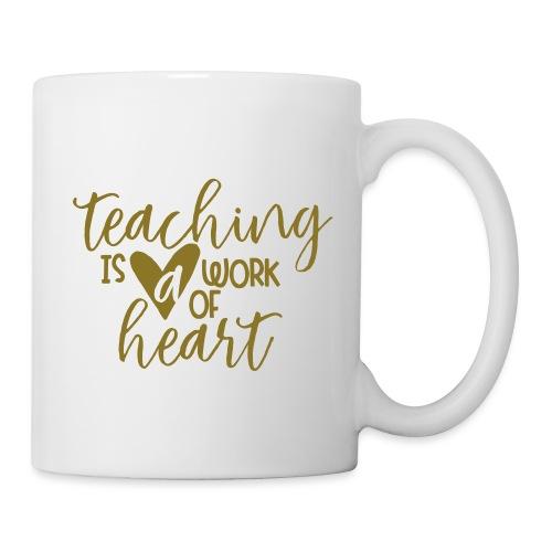Teaching Is a Work Of Heart Metallic Teacher Tee - Coffee/Tea Mug