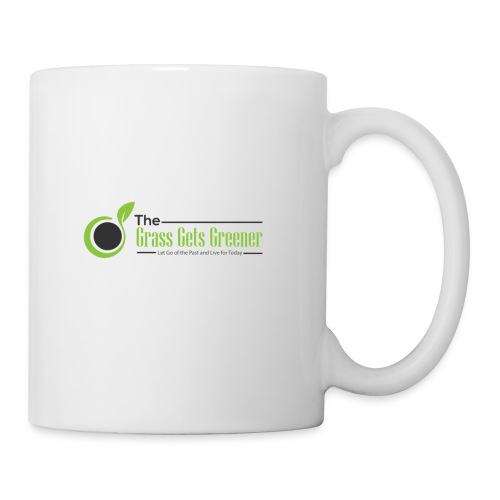 The Grass Gets Greener Logo w/ Text - Coffee/Tea Mug
