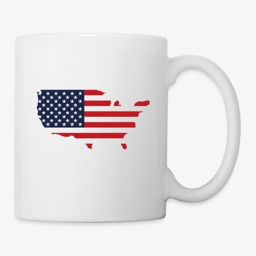 USA flag map red, white & blue - Coffee/Tea Mug