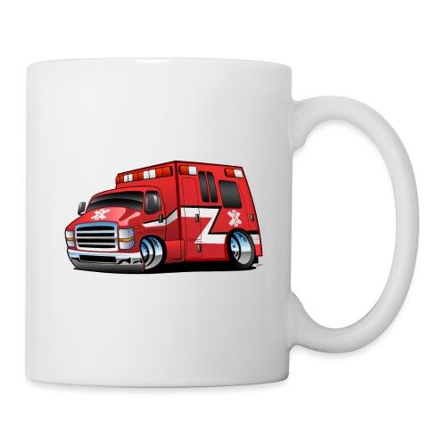 Paramedic EMT Ambulance Rescue Truck Cartoon - Coffee/Tea Mug