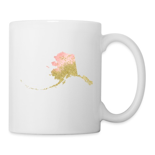 Watercolor Alaska Sate Peach & Gold - Coffee/Tea Mug