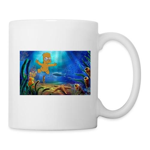 Bart Simpson Posing as the nirvana Boi - Coffee/Tea Mug