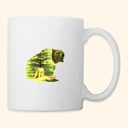 Bear isolated in the woods - Coffee/Tea Mug