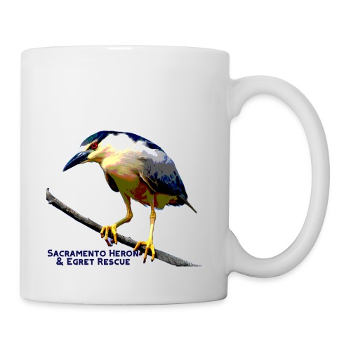 Black crowned Night Heron - Coffee/Tea Mug