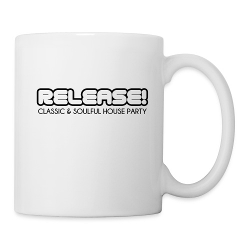 RELEASE! Black logo - Coffee/Tea Mug