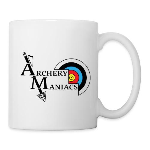 Archery Maniacs White Outline - Coffee/Tea Mug