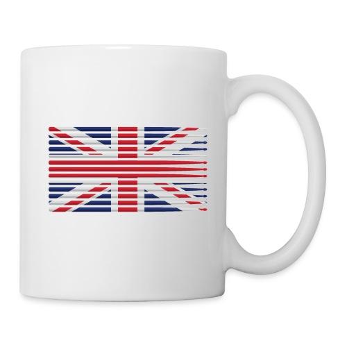 United Kingdom drummer drum stick flag - Coffee/Tea Mug