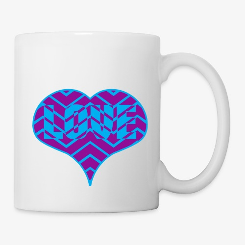 CHEVRON LOVE HEART - Coffee/Tea Mug