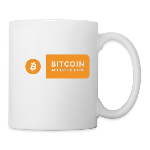 Bitcoin Accepted Here Logo Symbol Cryptocurrency - Coffee/Tea Mug
