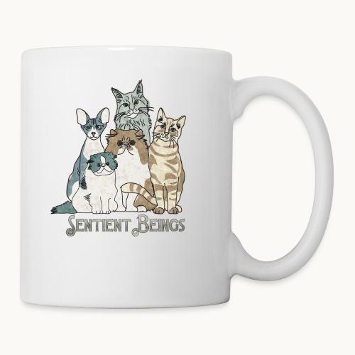 CATS - SENTIENT BEINGS - Carolyn Sandstrom - Coffee/Tea Mug