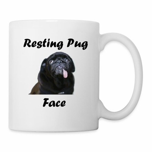 Resting Pug Face Tshirt - Coffee/Tea Mug