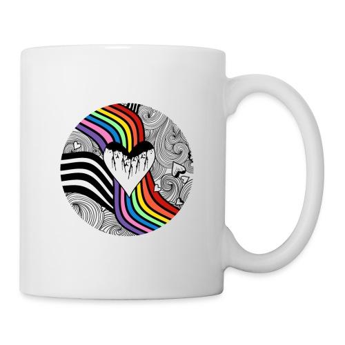 Rainbow Wedding Heart - Coffee/Tea Mug