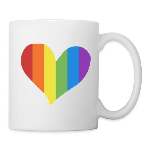 Pride Rainbow Heart - Coffee/Tea Mug