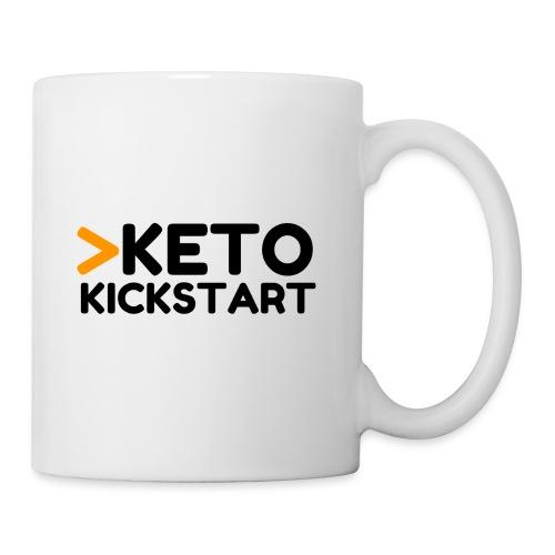 Keto Kickstart kaksi rivinen logo - Coffee/Tea Mug