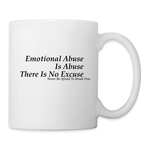 Emotional Abuse Black Font - Coffee/Tea Mug