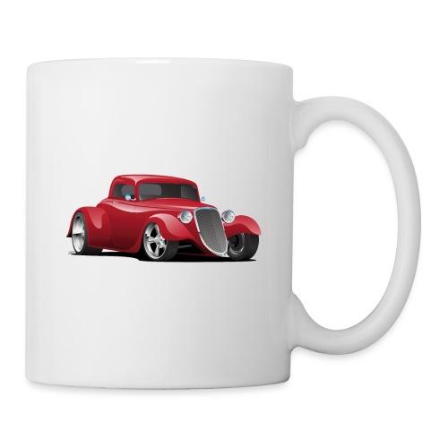 Custom American Red Hot Rod Car - Coffee/Tea Mug