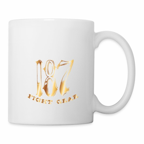 187 Fight Gear Gold Logo Sports Gear - Coffee/Tea Mug