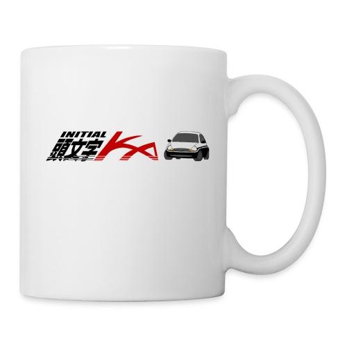 Initial Ka (Black writing) - Initial D parody - Coffee/Tea Mug