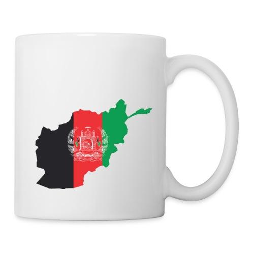 Afghanistan Flag in its Map Shape - Coffee/Tea Mug
