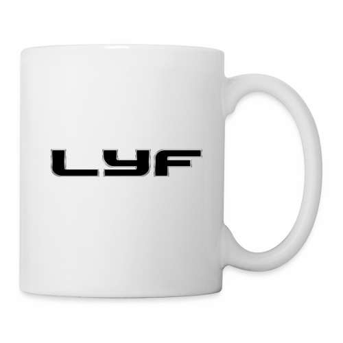Lyf black silver cut out transparent - Coffee/Tea Mug