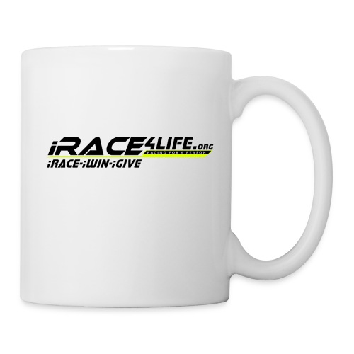 iRace4Life.org Logo with iRace-iWin-iGive! - Coffee/Tea Mug